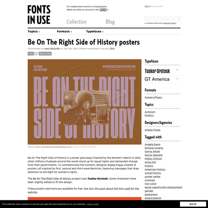 Be On The Right Side of History posters