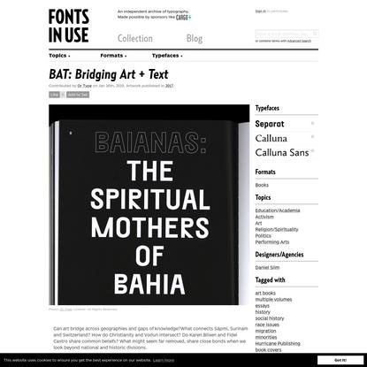 BAT: Bridging Art + Text