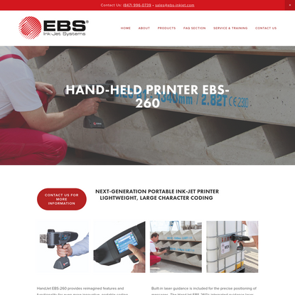 HAND-HELD Printer EBS-260 - EBS Ink-Jet Systems USA, Inc.