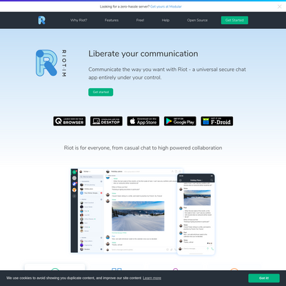 Liberate your communication | Riot
