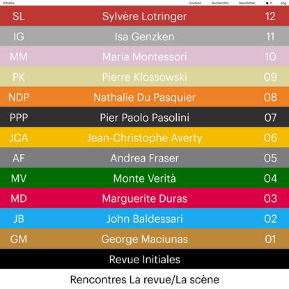 Revue Initiales - Ensba Lyon