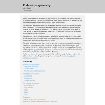 End-user programming