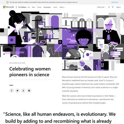 Microsoft In Culture   Celebrating women pioneers in science