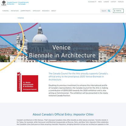 Canada Announces Official Entry at 2020 Venice Biennale in Architecture
