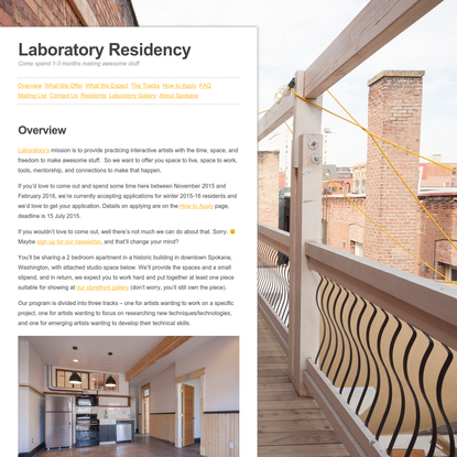 Laboratory Residency