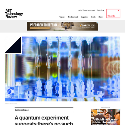 A quantum experiment suggests there's no such thing as objective reality