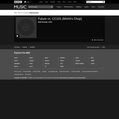 Future vs. CC101 (Mishti's Chop) - Diljit Dosanjh x DJC Song - BBC Music