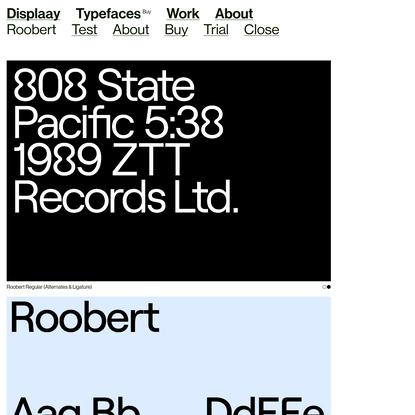 Roobert - Displaay Type Foundry