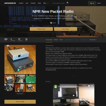 NPR New Packet Radio