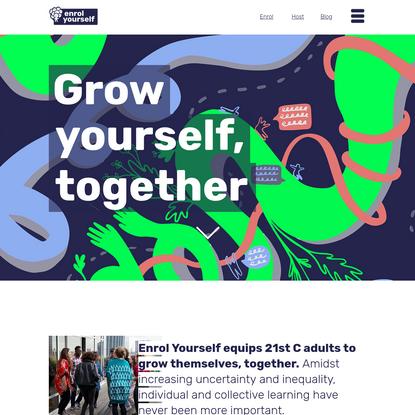 Enrol Yourself | Lifelong learning through the power of peer groups