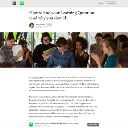 How to find your Learning Question (and why you should)