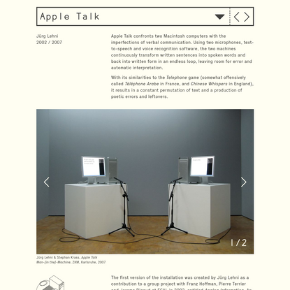 Jürg Lehni - Apple Talk