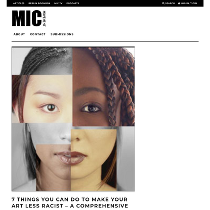 7 Things You Can Do To Make Your Art Less Racist - A comprehensive How-To-Guide