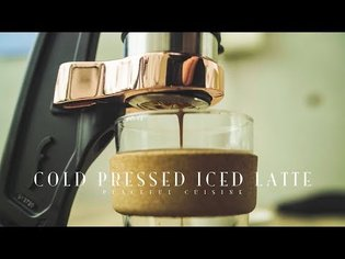Cold Pressed Iced Latte ☆ コールドプレスアイスラテの作り方 - YouTube