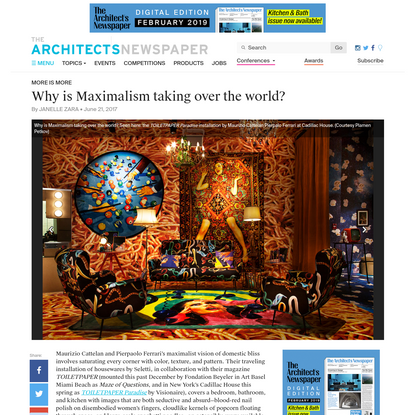 Why is Maximalism taking over the world?