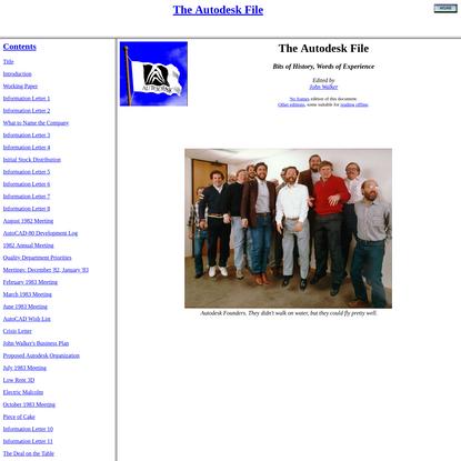 The Autodesk File