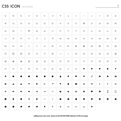 CSS ICON -- project by Wenting Zhang