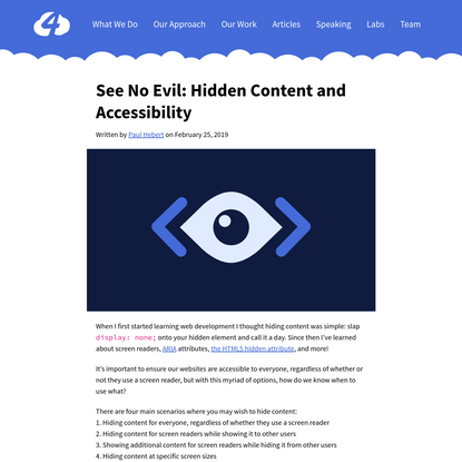 See No Evil: Hidden Content and Accessibility