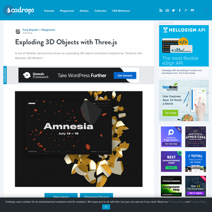Exploding 3D Objects with Three.js | Codrops