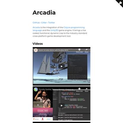 Arcadia, Clojure in Unity3D