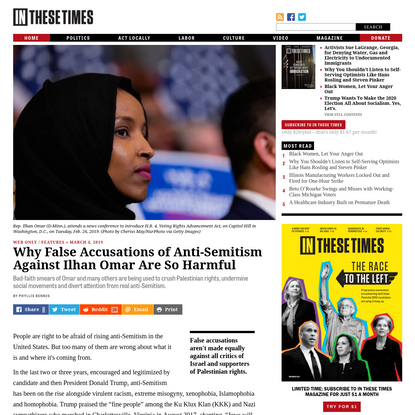 Why False Accusations of Anti-Semitism Against Ilhan Omar Are So Harmful
