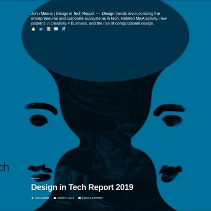 Design in Tech Report 2019