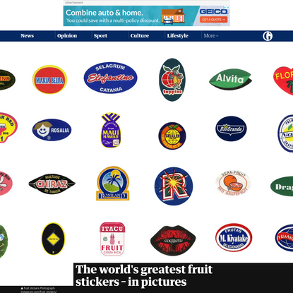 The world's greatest fruit stickers - in pictures
