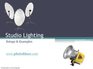 Studio Lighting - Setups & Examples (reflector, umbrella & softbox)