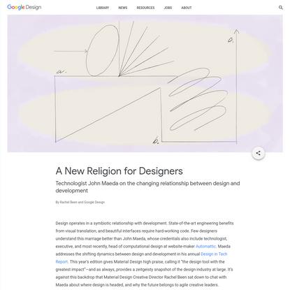 A New Religion for Designers - Library - Google Design