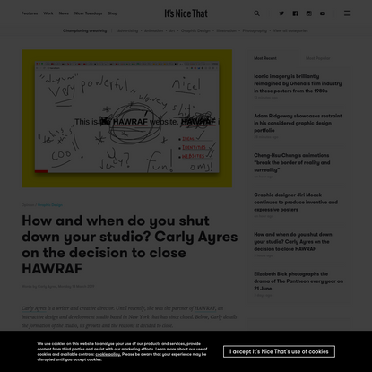 How and when do you shut down your studio? Carly Ayres on the decision to close HAWRAF