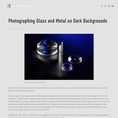 Photographing Glass and Metal on Dark Backgrounds