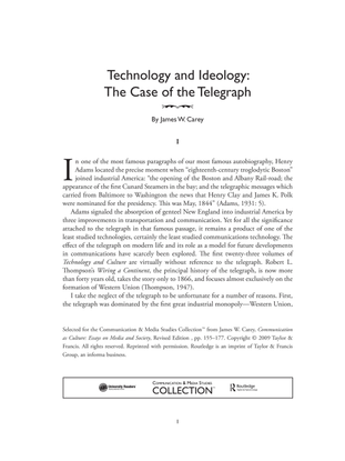 Technology and ideology