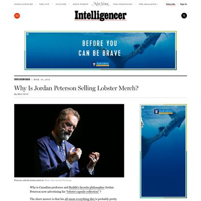 Why Is Jordan Peterson Selling Lobster Merch?
