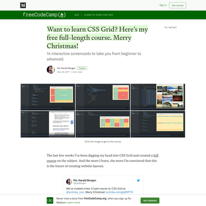 Want to learn CSS Grid? Here's my free full-length course. Merry Christmas!