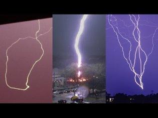 STRANGE LIGHTNING STRIKES - Caught on Camera and explained