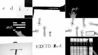 Edit: A Lexicon