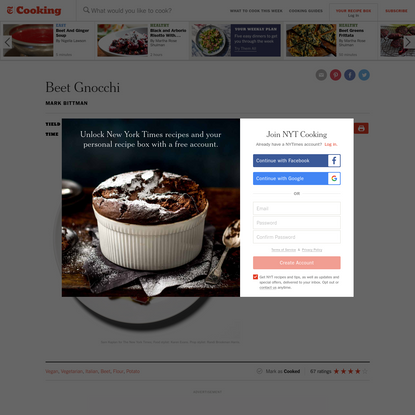 Beet Gnocchi Recipe