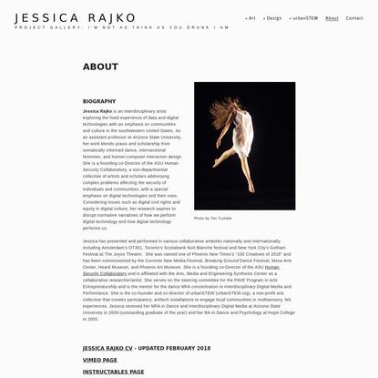 About - Jessica Rajko