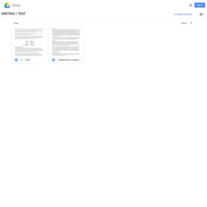 Google Drive: All text