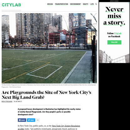 Are Playgrounds NYC's Next Developer Land Grab?