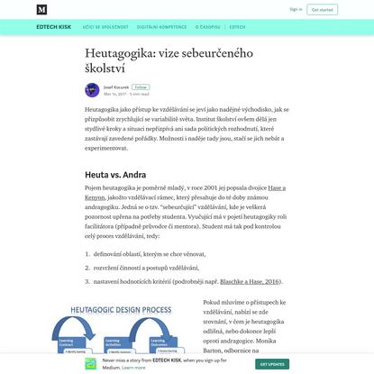 Heutagogika: vize sebeurčeného školství