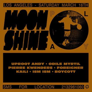 MORNING LOS ANGELES WE ARE SO EXCITED TO BE BACK FOR ROUND TWO WITH MOONSHINE X PLAY THIS SATURDAY MARCH 16TH WITH INFLATABL...