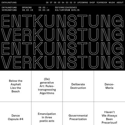 ENTKUNSTUNG -